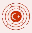 turkey flag in the labyrinth vector image