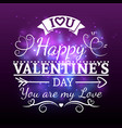 white valentine day typography banner vector image