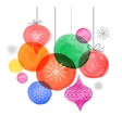 Christmas backgound watercolor vibrant colors vector image vector image