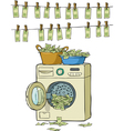 Washing machine with money vector image
