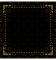 black card with gold frame vector image vector image