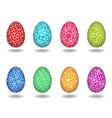 set of art easter egg vector image