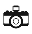 Retro camera simple icon vector image