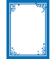 blue floral corners background vector image vector image