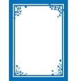 blue floral corners background vector image