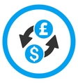 Dollar Pound Exchange Rounded Icon vector image