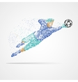 Football soccer goalkeeper vector image