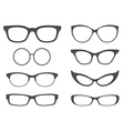Glasses Set vector image