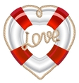 life belt heart valentine vector image