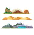 nature mountain landscape set vector image