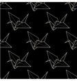 Origami crane seamless pattern vector image