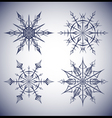 Set of ethnic snowflakes vector image