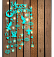 Christmas wood background vector image vector image