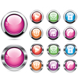 buttons vector image vector image