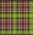 brown green check plaid seamless pattern vector image
