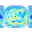 vibrant blue and yellow seamless mosaic pattern vector image