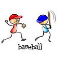 Men playing baseball vector image vector image