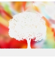 Summer background with tree Silhouette EPS 8 vector image