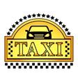 yellow taxi blazon vector image vector image