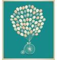 vintage greeting card design birthday vector image