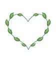 Fresh Green Leaves in A Lovely Heart Shape vector image