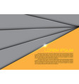 abstract gray overlap yellow design modern vector image