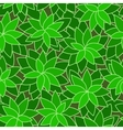 abstract green leaf plant seamless background vector image