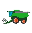Agricultural combine machine is ready for vector image