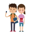 back to school couple students design vector image