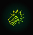 car crash or accident green icon vector image