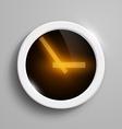 digital clock with orange arrows vector image