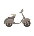scooter flat icon isolated side view bike vehicle vector image