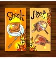 steak and meat vector image