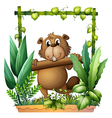 cartoon beaver vector image vector image