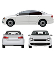 White Car vector image