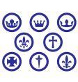 heraldry emblems vector image vector image