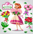 beautiful florist girl vector image