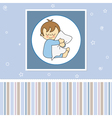 Sleeping child hugging the pillow vector image vector image