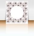 Presentation of flyer design content background vector image
