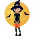 Little witch vector image