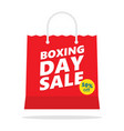 boxing day sale shopping bag vector image