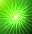Bright space star in green vector image