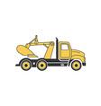 Digging Truck 380x400 vector image