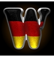 Germany metal figure w vector image
