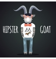 Hipster goat vector image