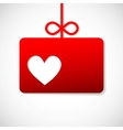 paper banner with heart for your business vector image