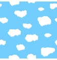 Unique clouds seamless pattern vector image
