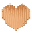 heart dsign with wooden sticks vector image