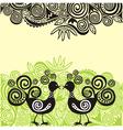 Birds pattern background vector image vector image