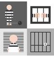 prisoner flat design vector image
